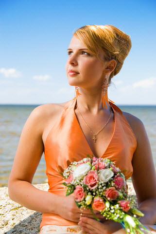 orange-wedding-dress