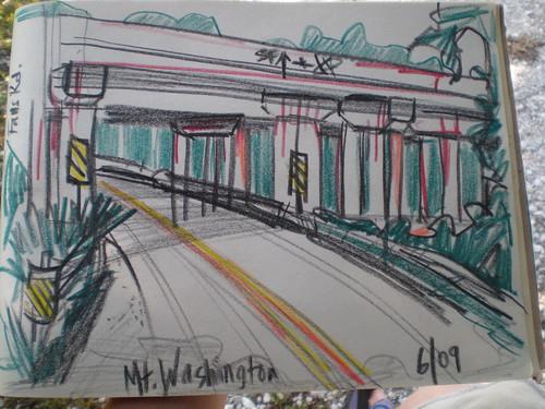 Sketch of overpass