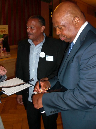 Experience Corps Staff Member and Former Volunteer Michael Burke and MD Congressman Elijah Cummings