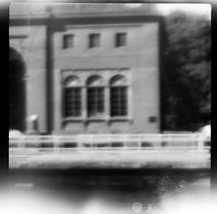 Chittenden Locks Admin Building (T E Schlemmer) Tags: bw pinhole longexp pinhead1