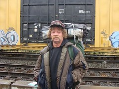 FTRA on his way home (Lep thebeard) Tags: portland hobo railfan freights trainhopper ftra