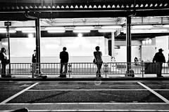 Nagoya Waiting (Mikael Colville-Andersen) Tags: station japan night train waiting trainstation nagoya