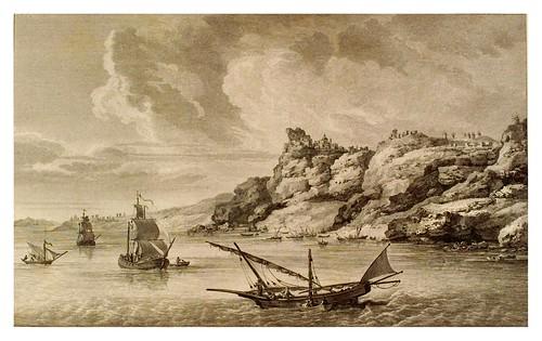 001-Vista de la costa de Santorin-Voyage pittoresque de la Grèce 1782