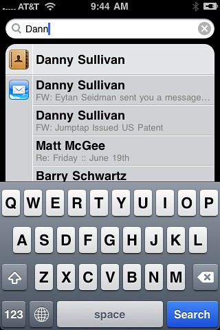 iPhone Spotlight Search