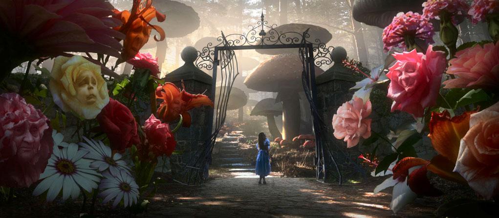 CGI flores Alicia en el País de las Maravillas