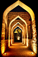 Pathe (AlAmmari) Tags: old castle portugal night dark lights for bahrain fort traditional award inner  manama seef   alammari    d450 aplusphoto   platinumaward  fotocompetition fotocompetitionbronze fotocompetitionsilver