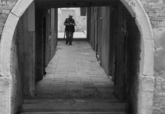 b&w passageway