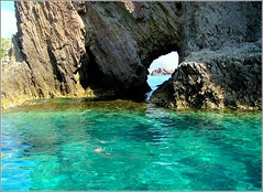 Ponza's Crystal Aquarmarine Waters (Kurlylox1) Tags: blue sea italy green water rocks crystal aquamarine clear caves ripples volcanic tufa shining ponza formations blueribbonwinner anawesomeshot