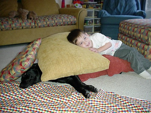 Elwyn as a pillow for Benton