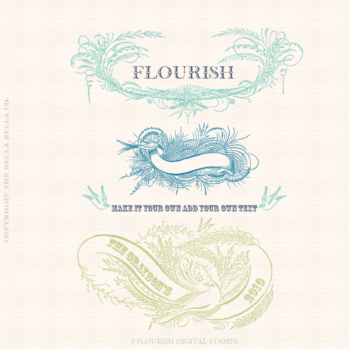 MISC. FLOURISH DIGITAL STAMPS