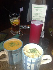 Soup and cullen skink from Teuchters Landing' Mug Menu