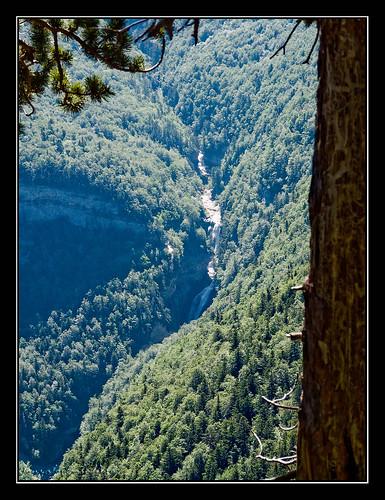 Ordesa - Cascada de El Estrecho desde la Faja de Pelay