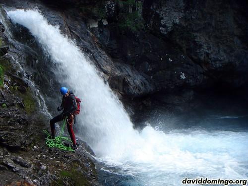 Ordiso: Quim en la cascada de la pasarela