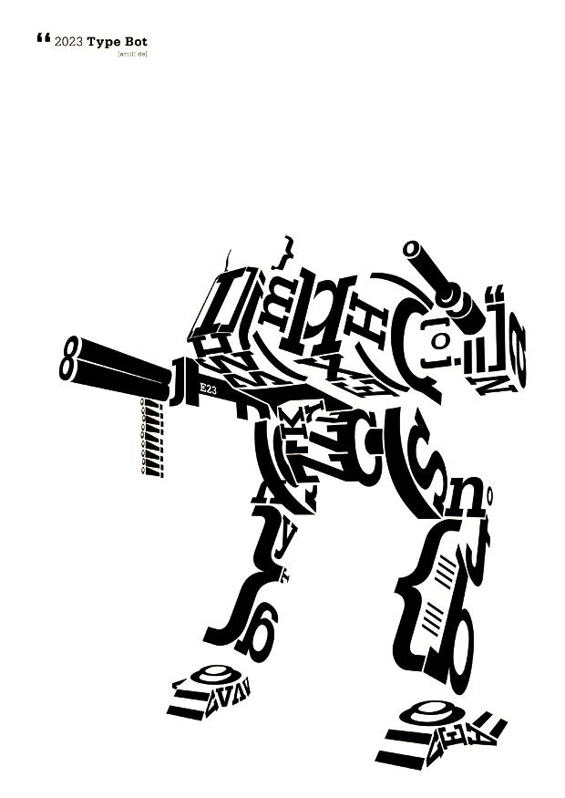 type bot - poster weiß