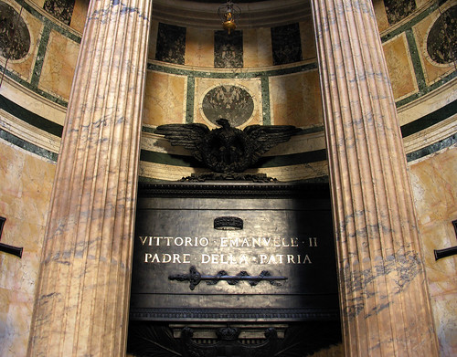 The tomb of Victor Emmanuel II, first king of unified Italy