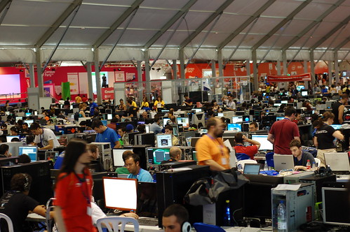 (cc) 2009 D. Cuartielles, general view of Campus Party