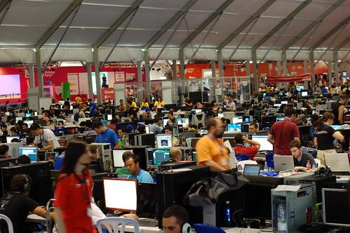 (cc) 2009 D. Cuartielles, general view of Campus Party
