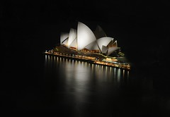 Sydney Opera House at night (5ERG10) Tags: ocean longexposure house west reflection building water sergio architecture night reflections dark lights hotel evening harbor nikon opera rocks view pacific harbour tripod sydney australia landmark icon shangrila quay nsw newsouthwales nikkor sidney notte architettura highdynamicrange circular oceania d300 18135 nohdr nikkor18135mm amiti 5erg10 sergioamiti