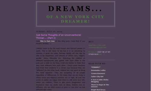Dreams of a New York City Dreamer