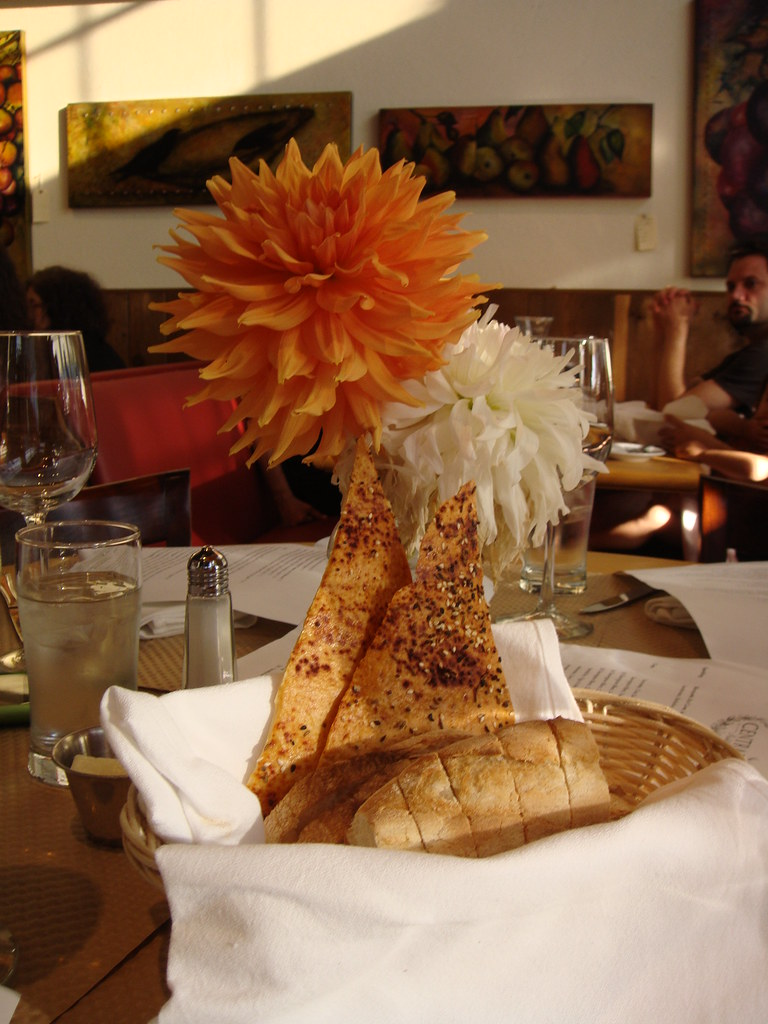 Bread Plate and Flowers