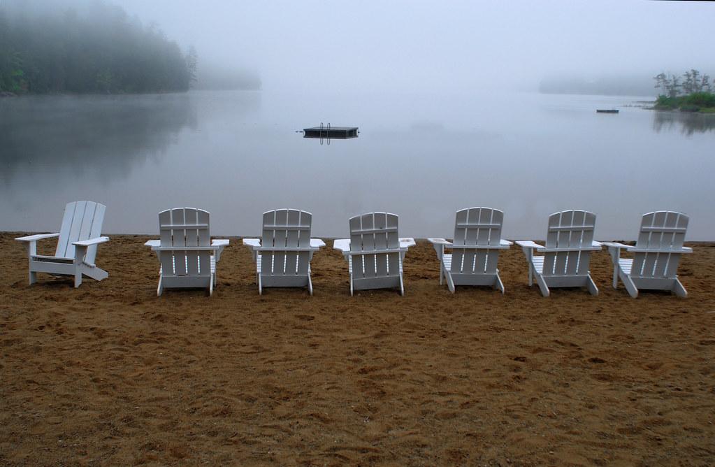 Adirondack Chairs in Sand