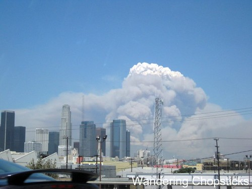 Station Fire Over Downtown Los Angeles 3