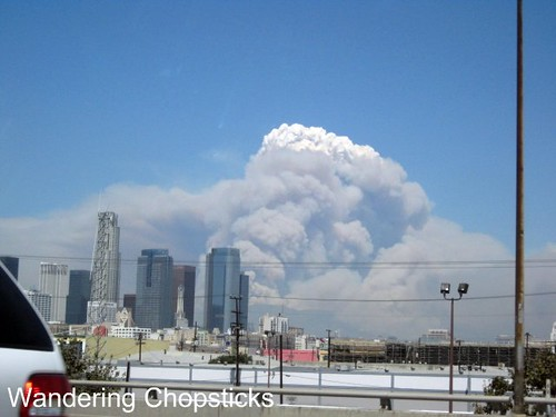 Station Fire Over Downtown Los Angeles 2