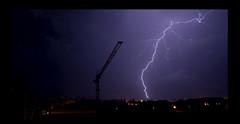 Fulmine (ciccio_bat) Tags: cielo notte citta gru taranto fulmine