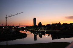 Sunset on Kortrijk (X'ian) Tags: zonsondergang belgium belgique belgi sunsets westvlaanderen sonnenuntergnge kortrijk belgien courtrai flandreoccidentale perfectsunsetssunrisesandskys couchersdusoleil euromtropolelillekortrijktournai