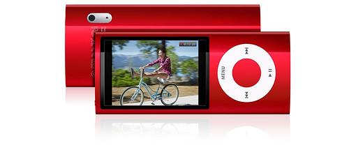 iPod Nano rojo con video cámara