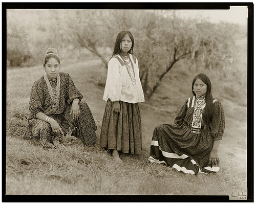3 Young Apache Girls:  Carrie, Rebekah, and Gracie