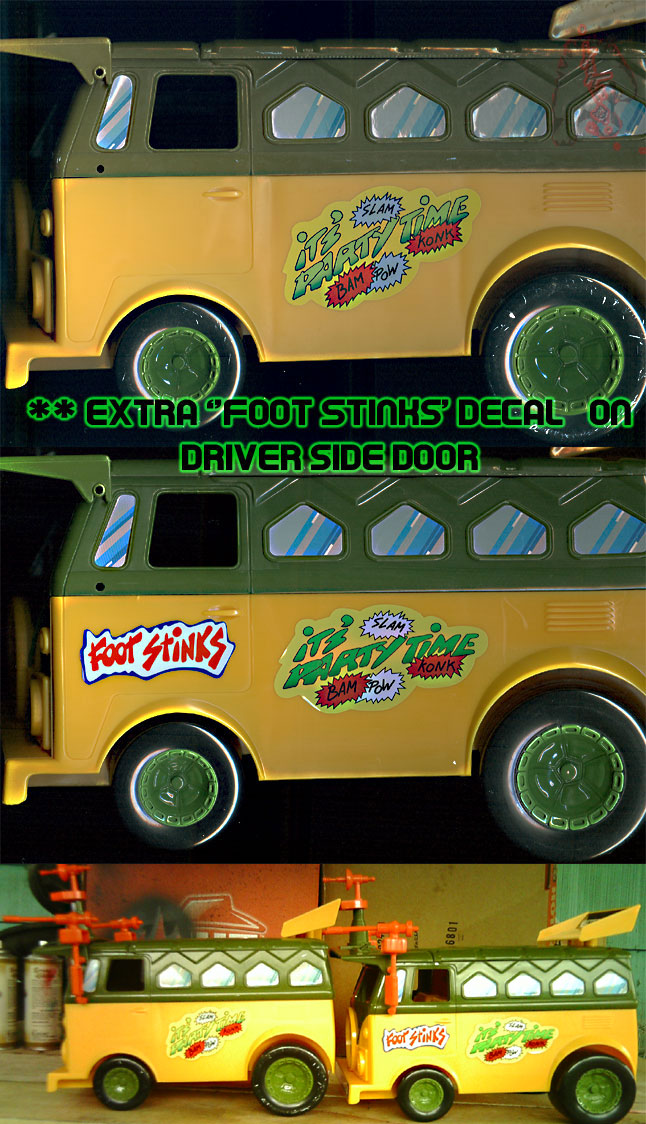 The tOkKa junkyard Car Show :: Classic Party Wagon vs. TMNT 25 Reissue //  Driver's side door