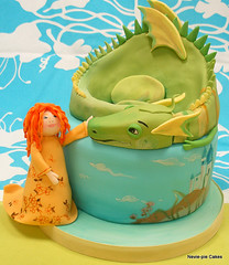 Puff the Magic Dragon (neviepiecakes) Tags: birthday cake dragon song caketopper childs fondant puffthemagicdragon
