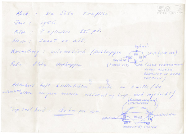 1956 Desoto Fireflite Description