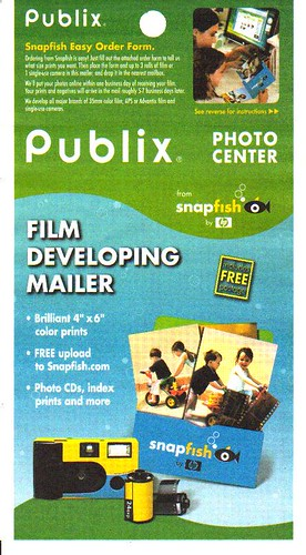 Publix Film Envelope (Phasing out due to digital)