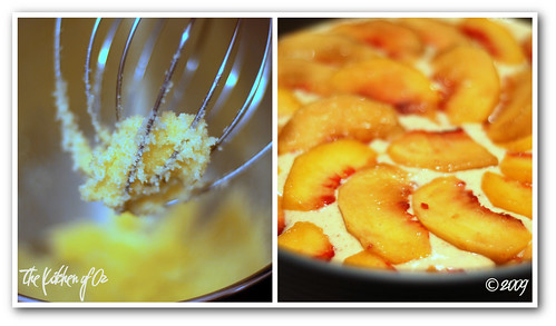 Hazelnut Peach Torte - Preparation