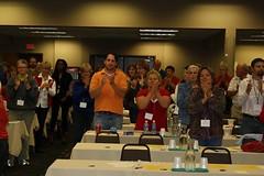 Attendees applaud Rep. Thissen (ARRM) Tags: paul rep thissen