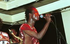 Mac Tontoh Project from Ghana at the Africa Centre London July 2001 050 group (photographer695) Tags: world africa from 2001 music london mac african centre band july jazz ghana warriors ashanti kete trumpeter amanas osibisa tontoh nanaeba exosibisa