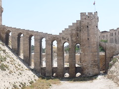 Aleppo, Main door of the Citadel. (Daniel Tardif (Best of)) Tags: door architecture citadel may mai syria porte 2009 aleppo syrie citadelle alep