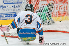 20091010-Sledge-DdvsKAM-133 (dig-i-pic) Tags: hockey deutschland dresden icehockey sachsen deu cardinals sledge kamen eishockey barbarians sledgehockey sledgeeishockey versehrtensport bundesliaga