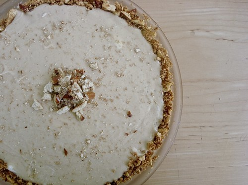 Peanut Butter Ice Cream Pie with Pretzel Crust