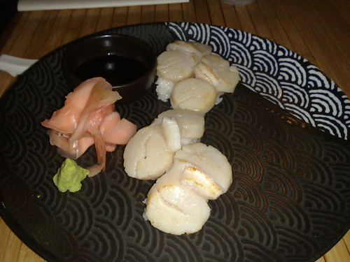seared scallop sushi