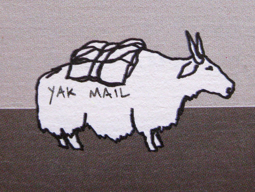 Yak mail looks east