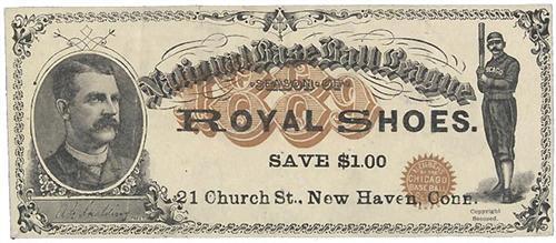 Royal Shoes National Baseball League front
