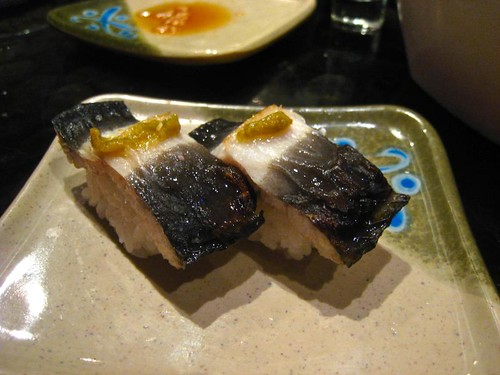Eel with a yuzu-salt topping