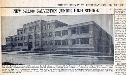 Newspaper article on Stephen F Austin school