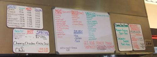 Pinkus McBride's deli menu