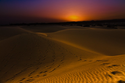 sundown at the sand dunes