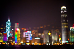 Bokeh & The City (terencehonin) Tags: hk hongkong 50mm bokeh harbour central   f12