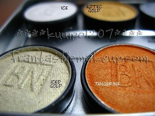 Ben Nye Lumiere eyeshadow - Iced Gold & Tangerine